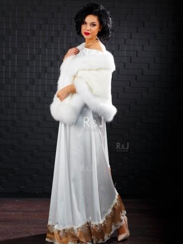 Mink and fox fur cape, 40cm