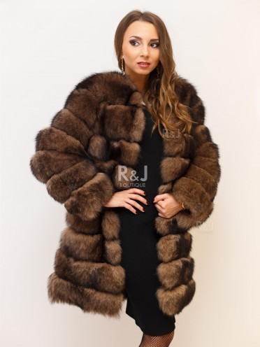 Arctic fox fur coat
