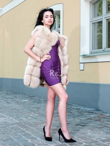 Arctic fox fur vest