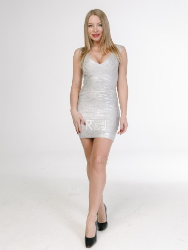 Silver bodycon dress
