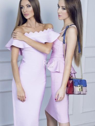 Maxi rozā kleita