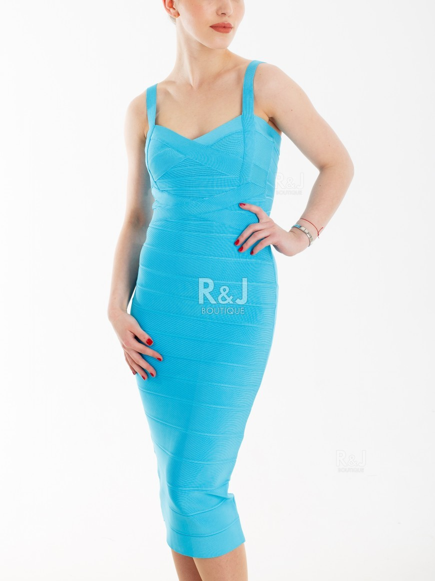 7faba87bc9c2 Turquoise bodycon dress - R J BOUTIQUE