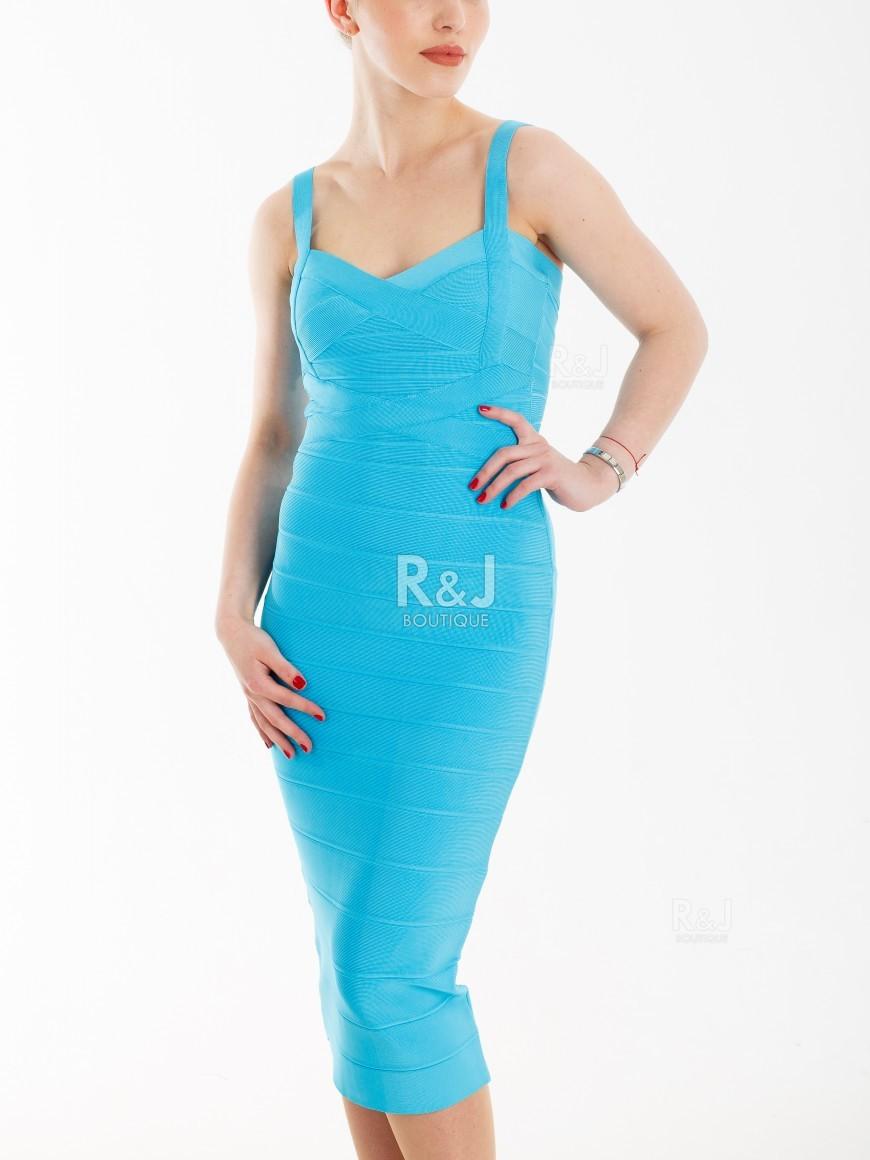 fd2d8bacde74 Turquoise bodycon dress - R J BOUTIQUE